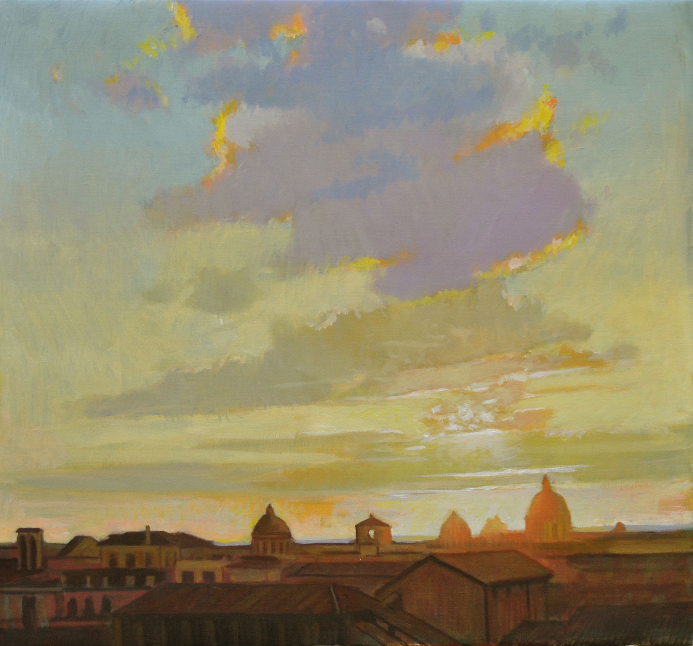 Roman June Evening Sky