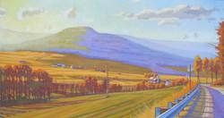 Autumn Valley, Mehoopany, PA  - Oil 36_ x 60_