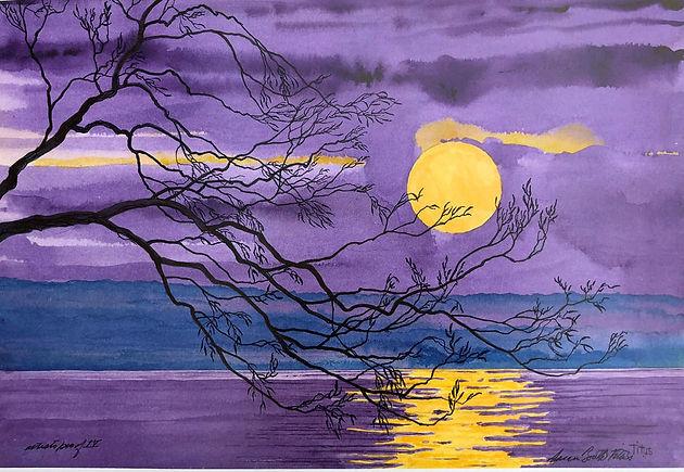 Purple Lake Moon