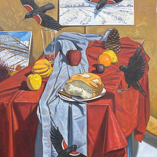 Still Life With Emergent Red Wing Blackb