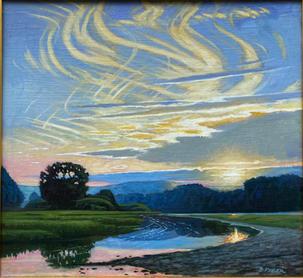 August Evening Light- Susquehanna