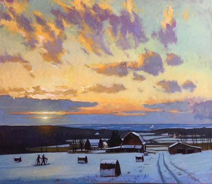 Winter Solstice Over Turkey Hill