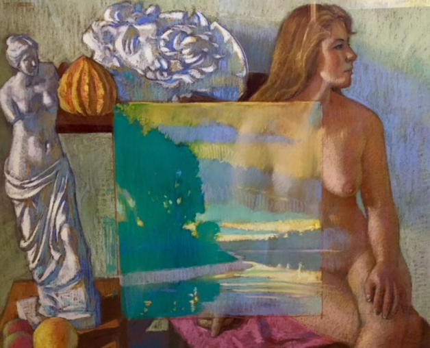 Nude with Riverscape, Laocoon and Venus.