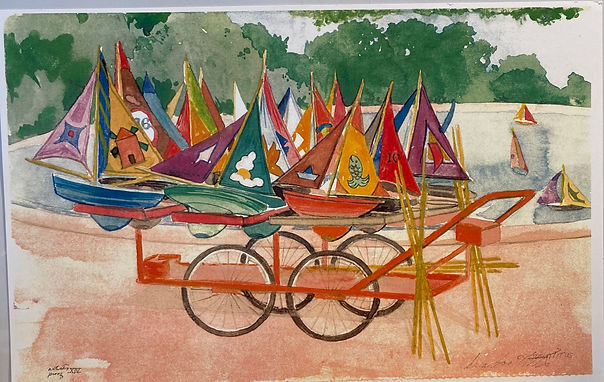 IMG_2706[Toy Boats], color print, signed