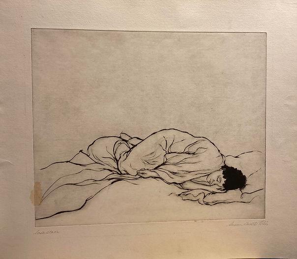 (Sleeping Woman) etching, last state, 18