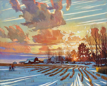 Winter Evening Light- Perry City Road- I