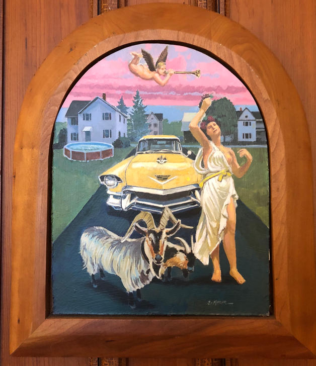 Bacchante with Yellow Cadillac