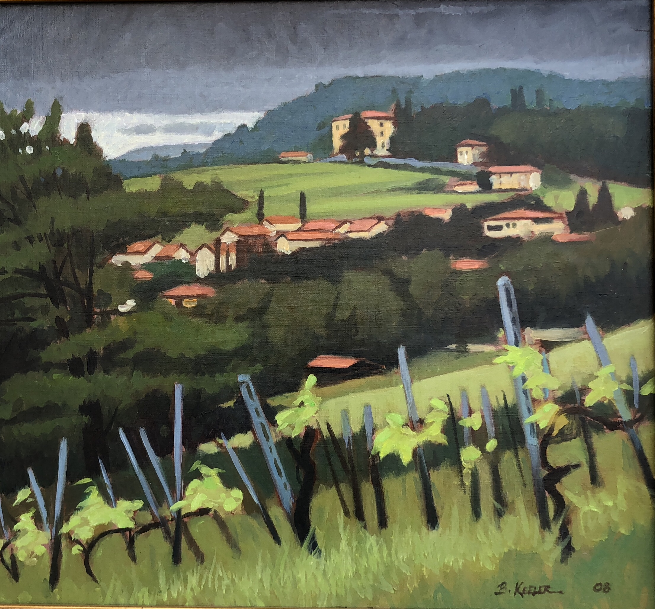 Tuscan Hillside Vines