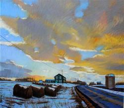 Winter Skyscape near Sheshequin, PA