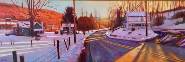 New Albany, PA, Winter Light
