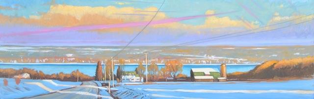 Cayuga Winter Light, Glenwwood Road