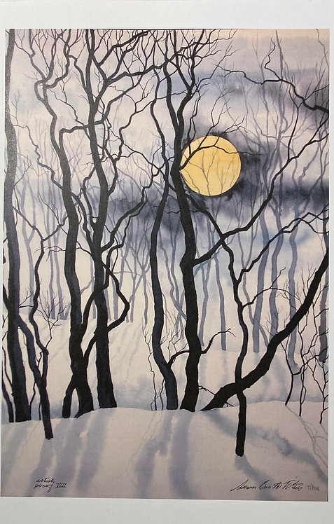 Winter Forest Moon