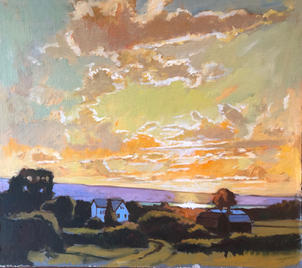 Cayuga June Evening Light- Over Triphammer