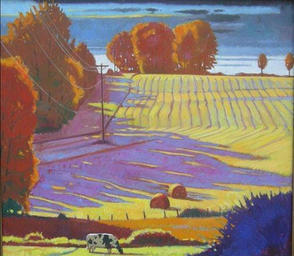 October Landscape With One Cow