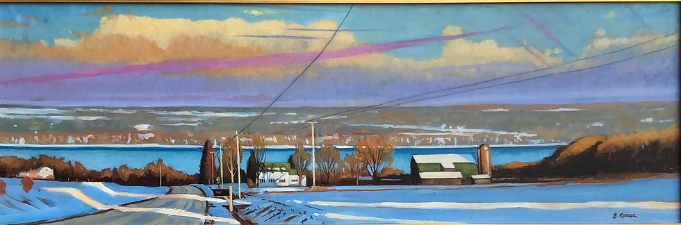 Cayuga Winter Light on Glenwood Road