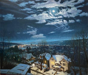 February Nocturne- Ithaca, NY