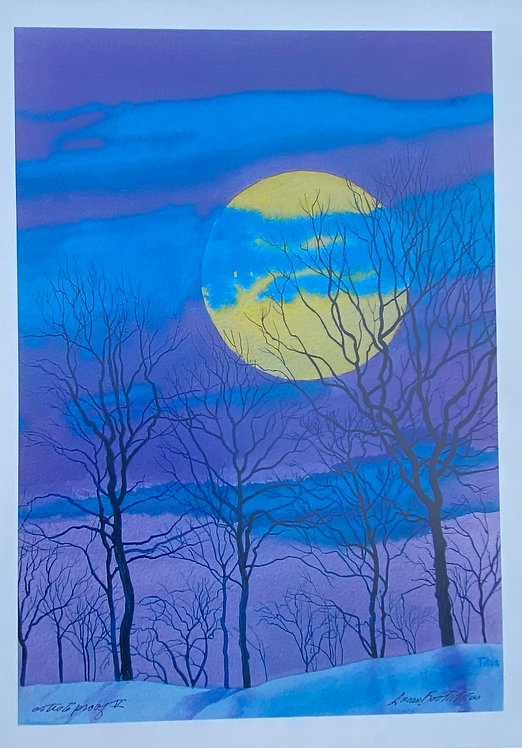 Winter Moon With Blue and Purple No. 2