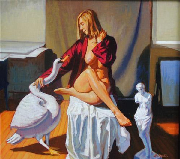 Leda_and_The_Swan_oil_on_linen__18x20__1