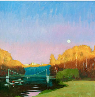 Cayuga Moonrise, Ithaca