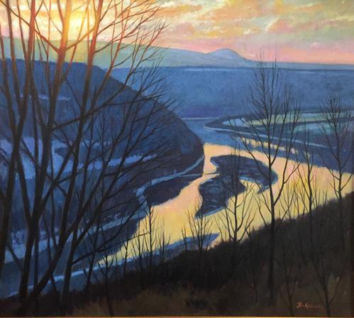 February Evening Light, Susquehanna