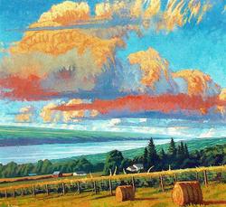 Aug Lake Clouds Over Seneca