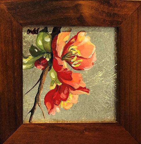 Quince Blossoms I (miniature)
