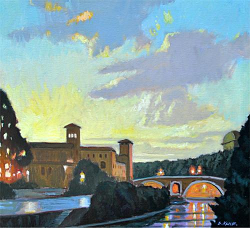 11 Ponte Fabrcio Nocturne, RomeJPG - Copy