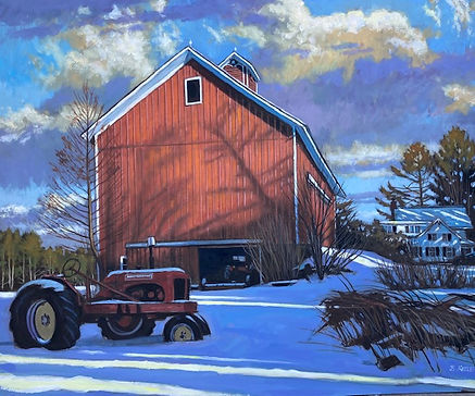 Ellis Hollow- Winter Light oil on panel