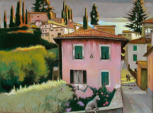 Last Light Tuscan Townscape
