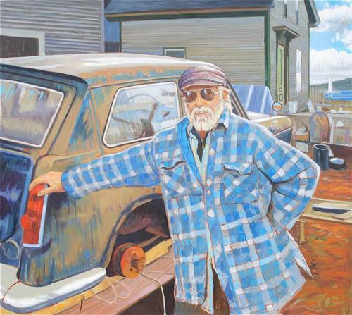 Stonington Bill with Austin Healey (Stonington, Maine)