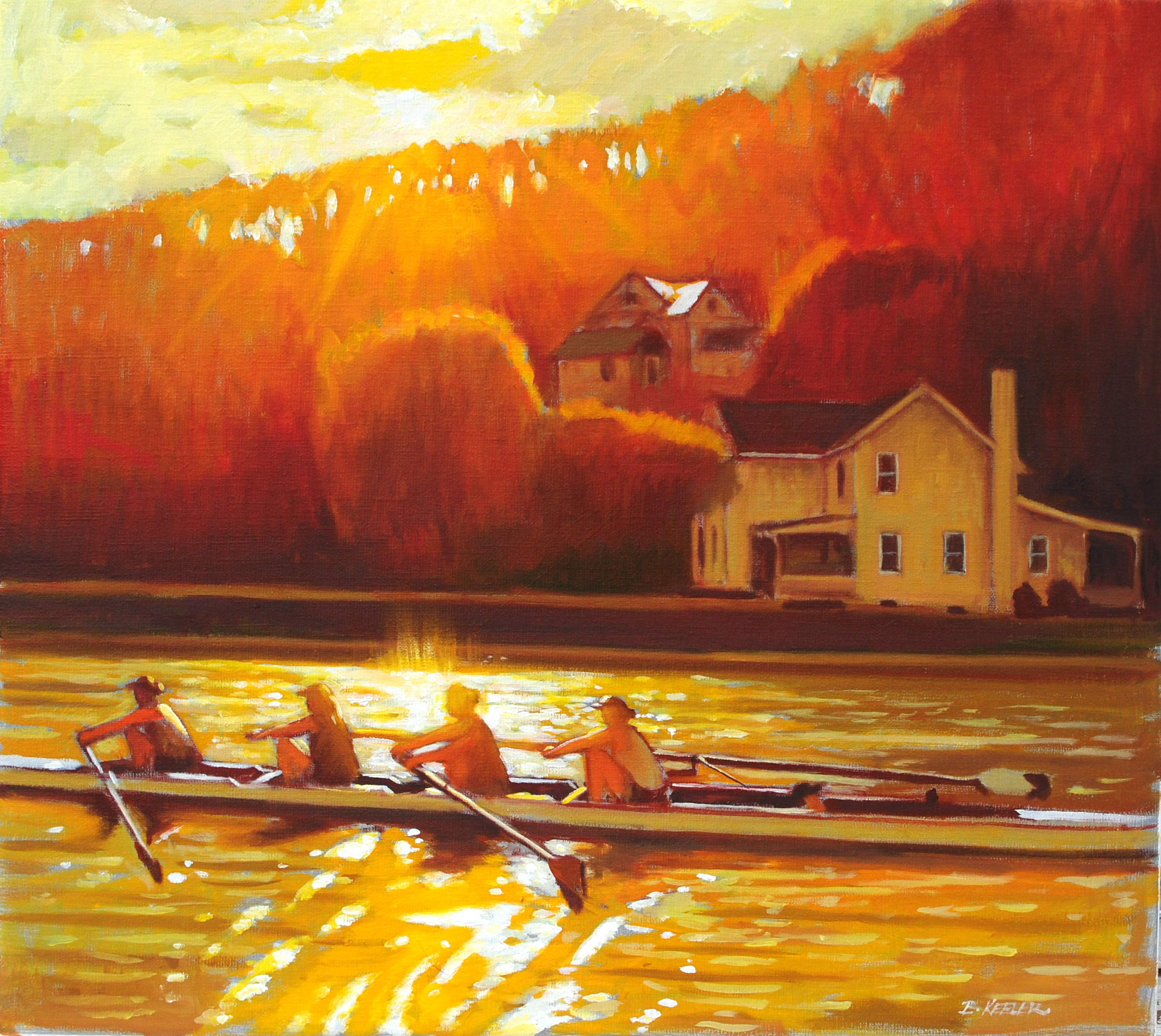 Sun Glint on Inlet, Ithaca, NY