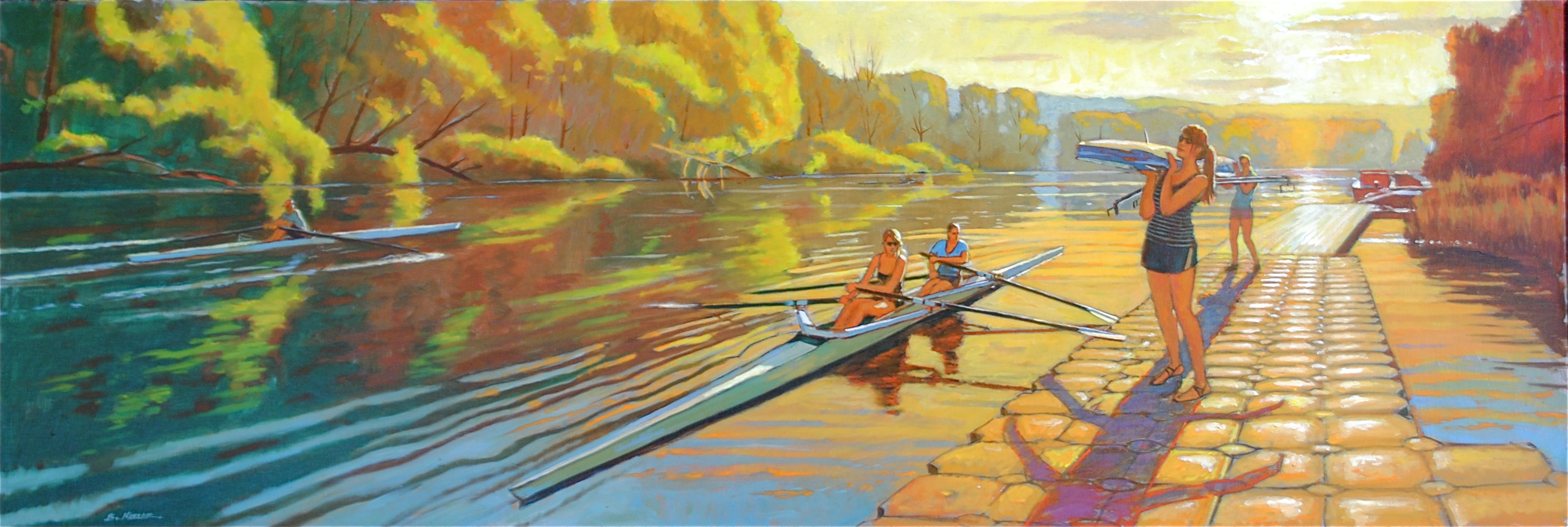 Cayuga Scullers- July Evening