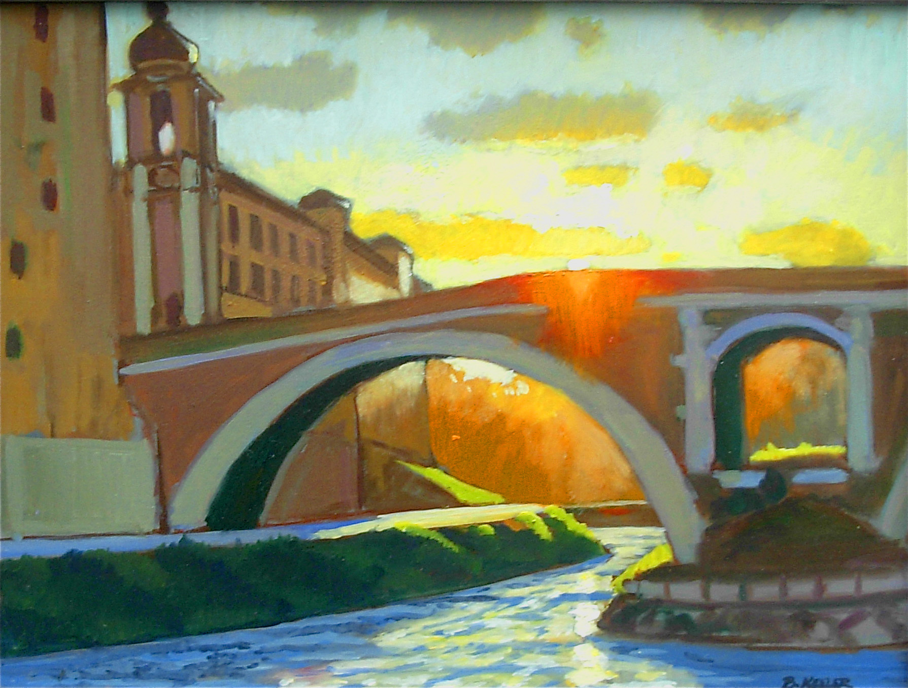 059 Ponte Fabricio, Rome Oil 12 x 16 HR - Copy