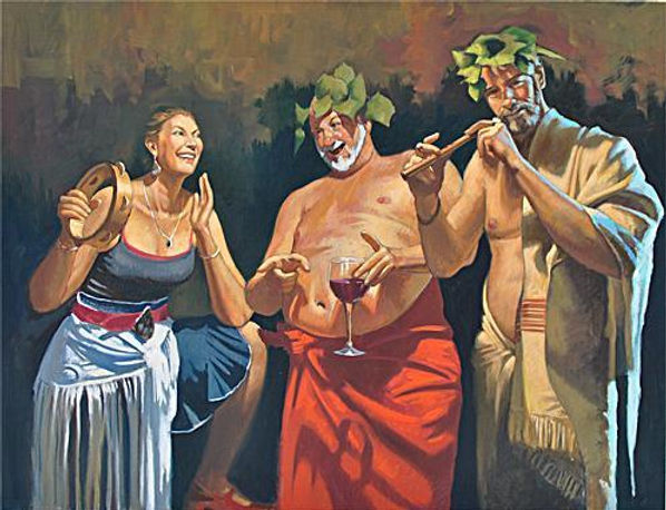 Silenus_and_Merry_Company_Oil_on_linen__
