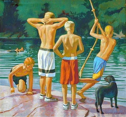 Swinging and Swimming, Loyalstock Creek, PA