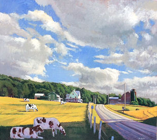 Landscape with Five Cows