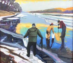 Ice Top Fishing- Susquehanna.