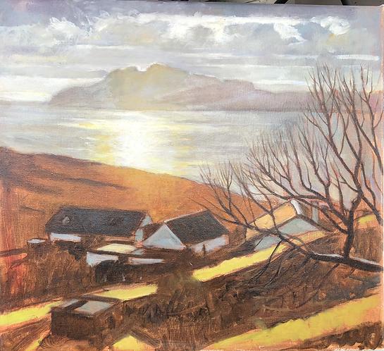 Afternoon Light Toward Isle of Rum