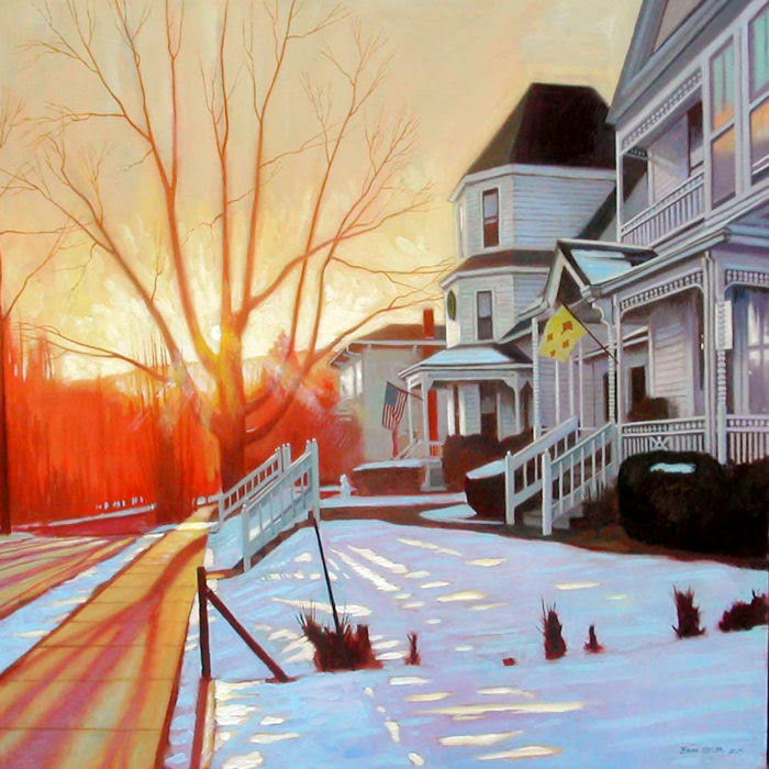 Front St. Flags-Winter Solstice oil 36x40
