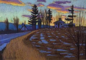 Evening Winter Light- Homet's Ferry, PA