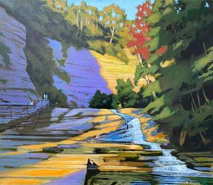 Cascadilla Gorge- September Light