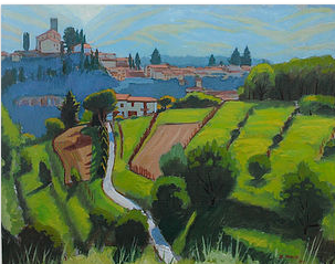 View Towards Barga After a Rain