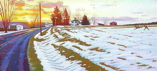 Homer's Ferry Winter Fields