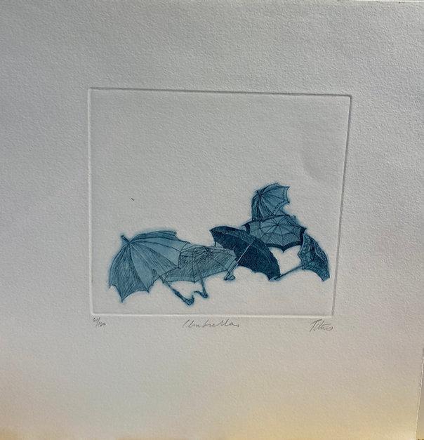IMG_2867Umbrella, blue signed etching, 1