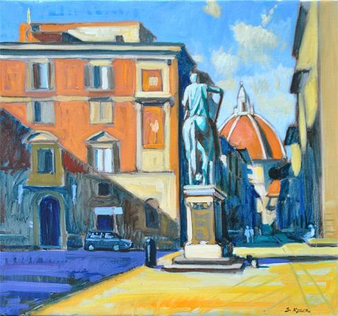 Morning Light, Florence, Piazza Santissi