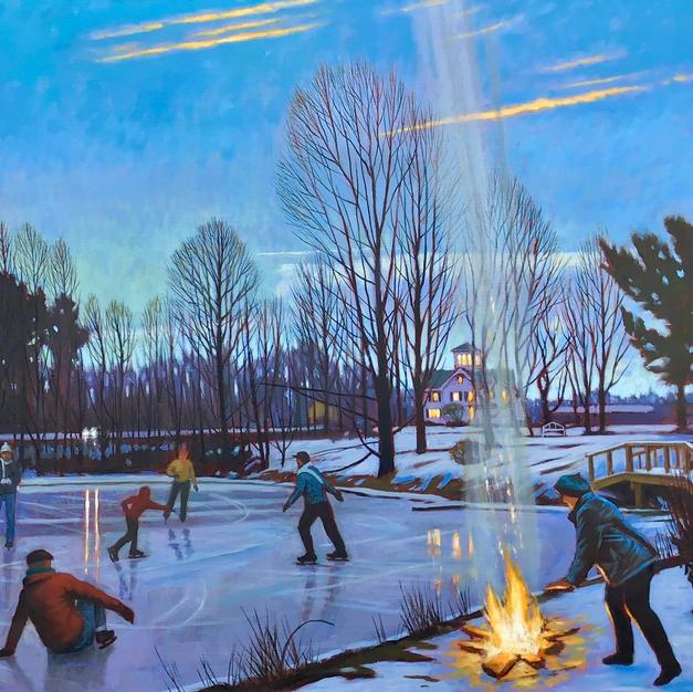 Snyder_Hill_Winter,_Ithaca,_NY_oil_on_li