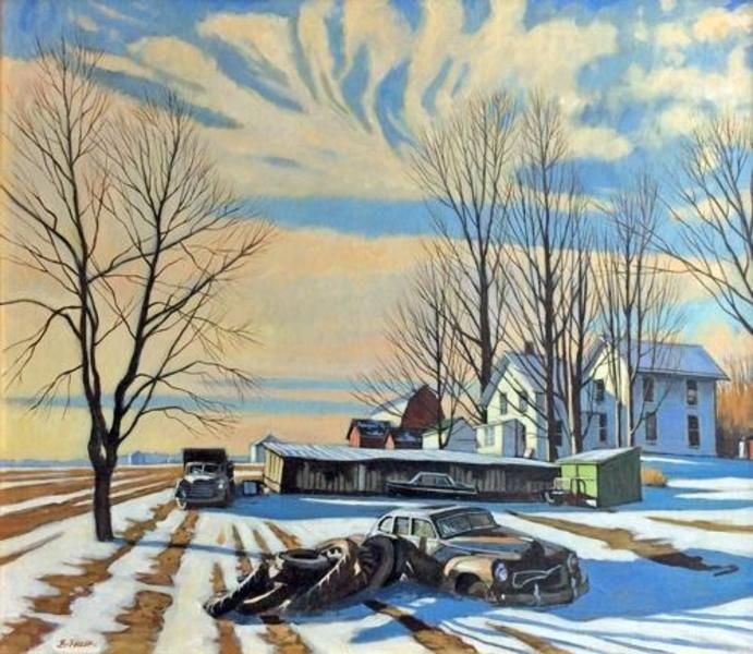 Winter Morning Light with 47 Chrysler
