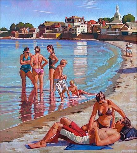 September Beach Scene, Rockport, MA