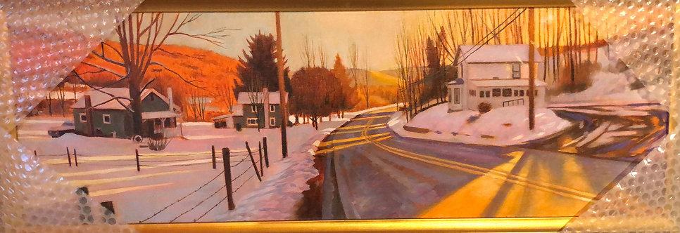 New Albany PA, Winter Light