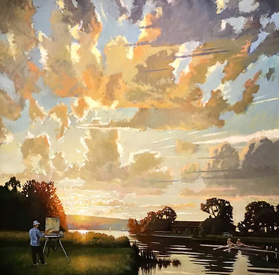 Summer- Cayuga Lake Luminosity     Oil o